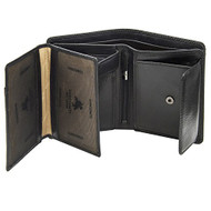 Visconti Tuscany 44 Secure RFID Blocking Genuine Leather Wallet (Black)