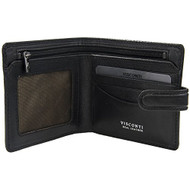 Visconti Tuscany 41 Secure RFID Blocking Genuine Leather Wallet (Black)