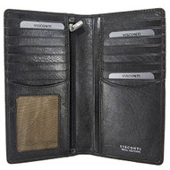 Visconti Tuscany 45 Secure RFID Blocking Genuine Leather Wallet (Black)