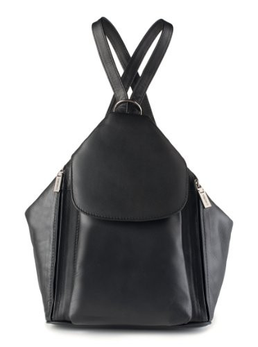 bd1c752ba546 ... Visconti 18357 Medium Ladies Triangular Leather Backpack Rucksack  Handbag (Bl... Image 1