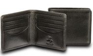 Visconti HT8 Soft Thin Leather Business/Credit Card Holder Wallet (Black)