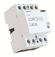 CONTACTOR, 4 POLE, 40A-AC1 230V AC/DC 3 MODULE WIDE, DIN MOUNTING