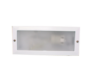 """IP44 Die-cast aluminium brick light with frost glass lens. Lamp: Available Max 240V 40W ES Optional LED lamps available Optional 9W PLC Kit Available, G702"
