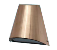 """ IP24 Exterior wall light. Stylish copper shade with frosted glass diffuser. Fitting comes complete with lamp. G9 Only"", special order 2-3 weeks turn around"