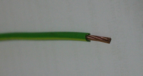 Single Core Earth cable, green/yellow
