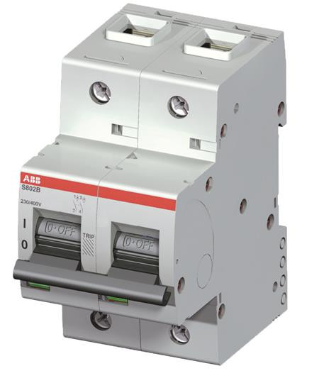 The S802B-D80 is a 2-pole High Performance Circuit breaker with D-Dharacteristic
