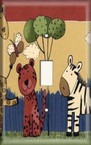 Animal Birthday Party - Light Switch Plate Cover