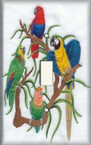 Bird Tapestry - Light Switch Plate Cover