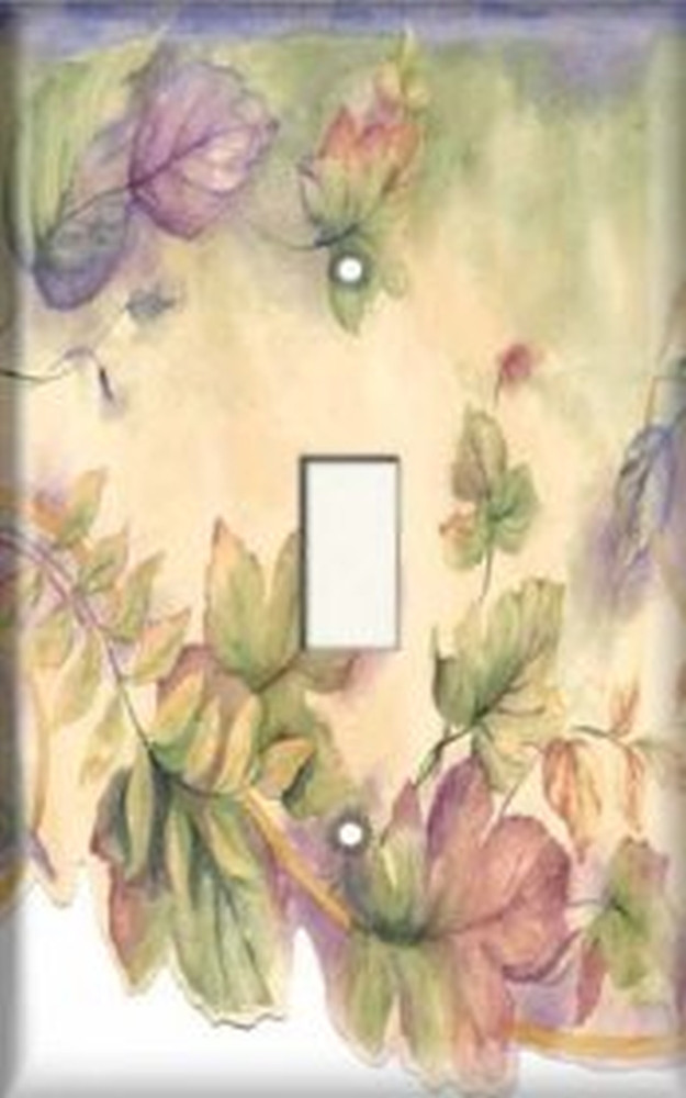 Colorful Leaves Light Switch Plate Cover Snazzy Switch