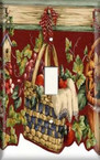 Hanging Fruit Basket - Light Switch Plate Cover