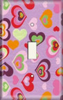 Hearts - Light Switch Plate Cover