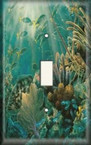 Hiding Fish - Light Switch Plate Cover