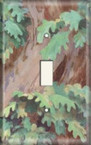 Leaves Over Trunk - Light Switch Plate Cover