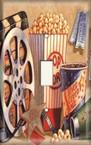 Movie Popcorn - Light Switch Plate Cover