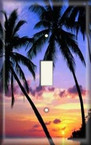 Palm Tree Sunset - Light Switch Plate Cover
