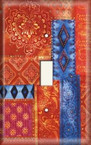 Red and Blue - Light Switch Plate Cover