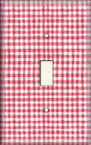 Red Gingham - Light Switch Plate Cover