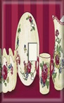 Red Rose Dinnerware - Light Switch Plate Cover