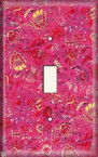 Red/Yellow Flower Wash - Light Switch Plate Cover
