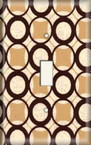 Retro Brown Circles - Light Switch Plate Cover