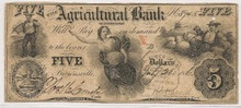 1856  $5 The Agricultural Bank of TN, Brownsville Fine