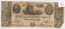1849 $2 Hartford Bank Note