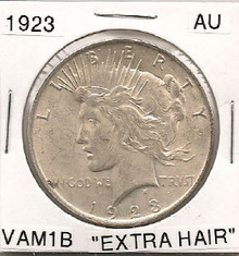 "1923 Peace Dollar VAM 1B Top 50 ""Extra Hair"""