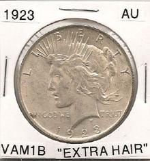 "1923 Peace Dollar VAM 1B Top 50 ""Extra Hair"""