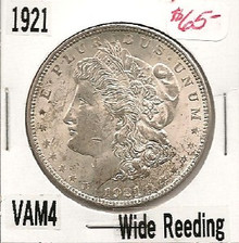 1921P Morgan Dollar VAM 4 Wide Reed