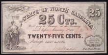 1866 THE STATE OF NORTH CAROLINA 25 CENT FRACTIONAL 331083380982