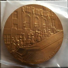 UNITED STATES LITTLE ROCK NINE 3'' AND 1 1/2'' BRONZE MEDALS