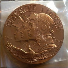 UNITED STATES TUSKEGEE AIRMEN 3'' AND 1 1/2'' BRONZE MEDALS