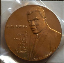UNITED STATES JACKIE ROBINSON 3'' AND 1 1/2'' BRONZE US MINT MEDALS