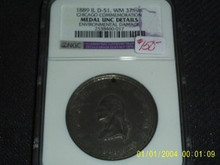1889 IL D-51 WM 37mm Chicago Commemoration Medal NGC