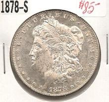 1878-S 1st Year SAN FRAN Morgan Silver Dollar Ch Unc