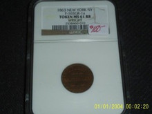 1863 Cincinnati OH FLYING EAGLE MS 61RB WRIGHT CWT NGC