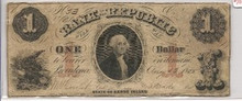 $1 George Washington Bank of the Republic F Aug 13 1855