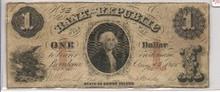 $1 George Washington Bank of the Republic F Aug 13 1855