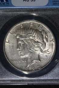 1923-D VAM 1E Extra Hair Die Breaks Hair ANACS AU 55