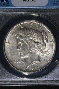 1923-D VAM 1E Extra Hair Die Breaks Hair ANACS AU 55 230434384168