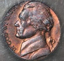 1979 Nickel Struck on Cent Planchet MS 65 RB ICG ERROR