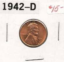 1942-D Lincoln Wheat Copper Cent Nice Uncirculated