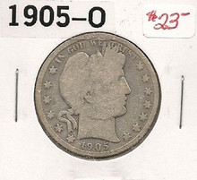 1905-O Barber Half Dollar G Good Liberty