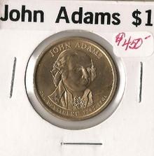 John Adams MISSING EDGE LETTERING Rare ERROR Choice Unc