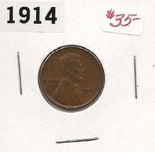 1914 Lincoln Wheat Copper Cent AU+ About Unc Key Date