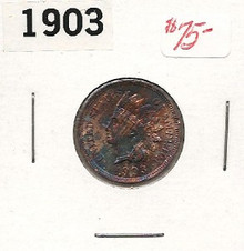 1903 Indian Head Copper Cent Choice Unc Amazing COLOR