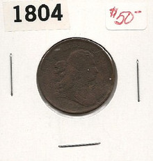1804 Half Cent 1/200 Circulated Copper Halr Cent