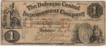 $1 Dubuque Central Improvement Company IOWA Dec 15th 57