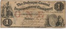 $1 Dubuque Central Improvement Company IOWA Dec 15th 57