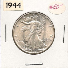 1944 Liberty Walking Half Dollar